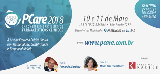 PCare 2018 - 3º Congresso brasileiro de farmacêuticos clínicos